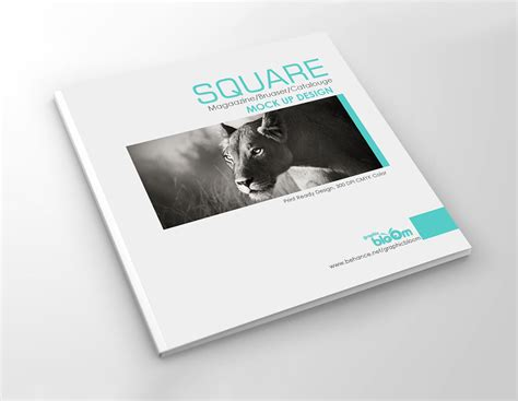 catalog design mockup square catalogue mockups mockupworld