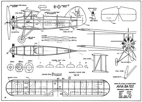 Bébé Plan Incliné by Avia Ba 122 Plans Aerofred Free Model Airplane Plans