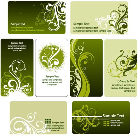 flower business card template illustrator fashion floral card template vector graphic free vector in