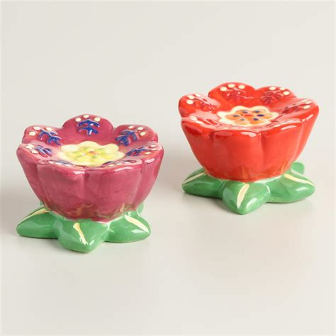 ceramic salt and pepper shakers flower ceramic salt and pepper shaker set world market