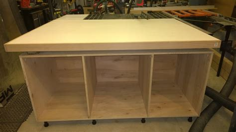 outfeed table plans craftsman contractor s table saw outfeed table by