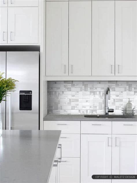 gray glass tile kitchen backsplash white glass metal modern backsplash tile for contemporary to modern projects