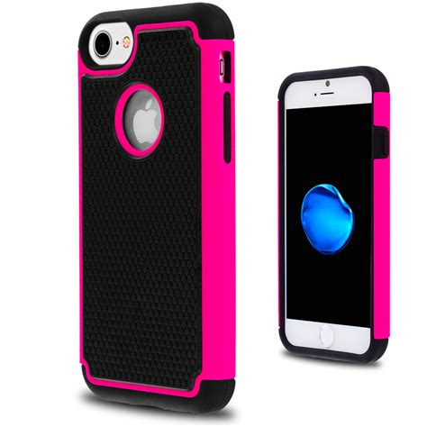 rugged cover black pink hybrid rugged armor protector cover for apple iphone 7 casedistrict