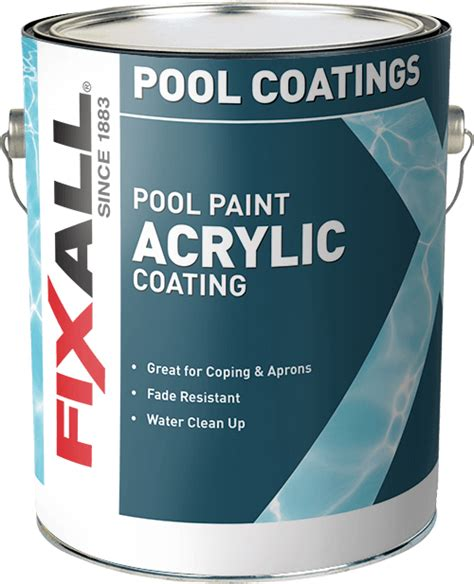 acrylic pool paint fixall paint