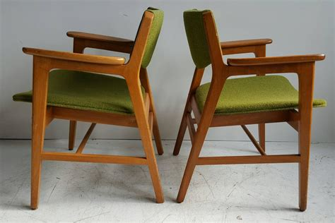 Wh Gunlocke Chair Co by Classic Mid Century Modern Armchairs Manufactured By W H