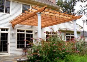 Pergola Or Trellis by Attached Deck Pergola No Ap6 By Trellis Structures
