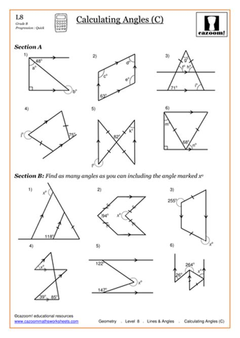 Geometry Missing Angles Worksheet by Finding Missing Angles Worksheet Worksheets For School