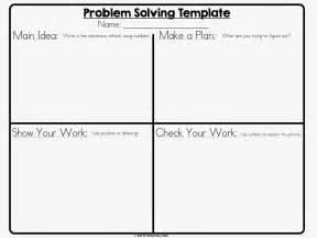 8 step problem solving template mr elementary math math problem solving 101