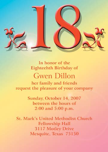 invitation sms for 18th birthday 18th birthday quotes for quotesgram