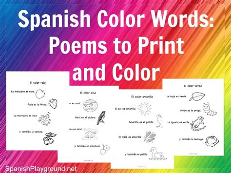 rhymes with color color words rhymes to print and color