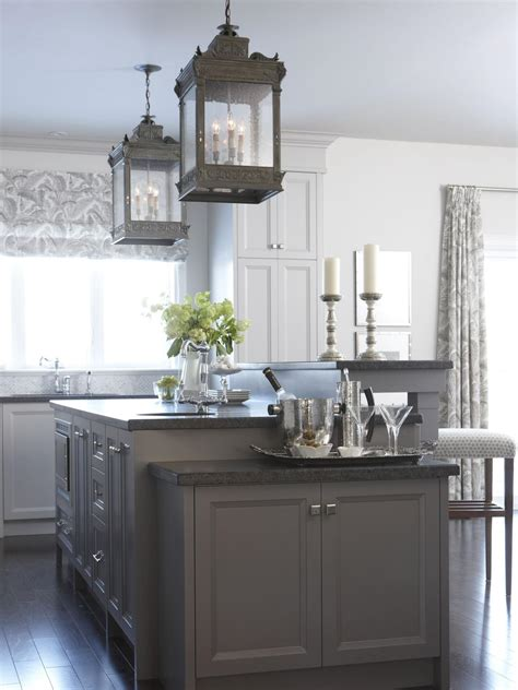 gray kitchen island sarah s house hgtv