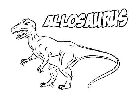 allosaurus dinosaur coloring pages realistic coloring pages