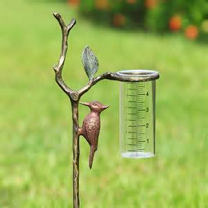Decorative Glass Canisters Spi Woodpecker Wide Rain Gauge 34144