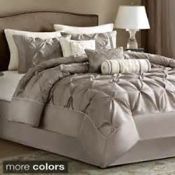 madison park lafayette tufted taupe 7 piece comforter set