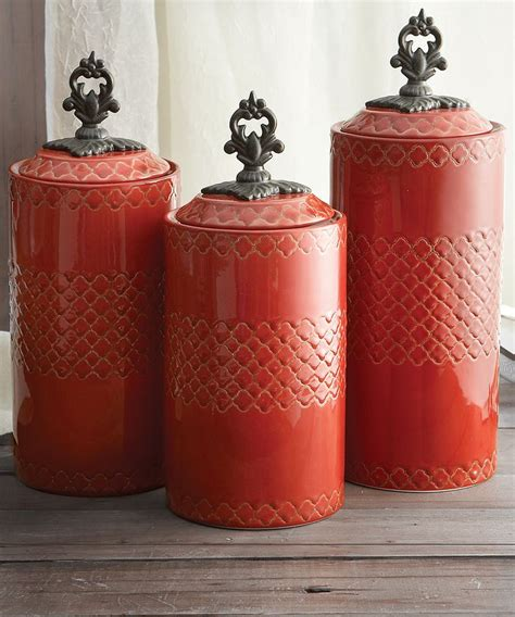 cheap kitchen canister sets red antiqued canister set kitchen pinterest canister