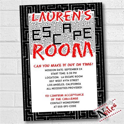 Escape Room Invitation Escape Party Invitation Escape Room Free Escape Room Invitation Template