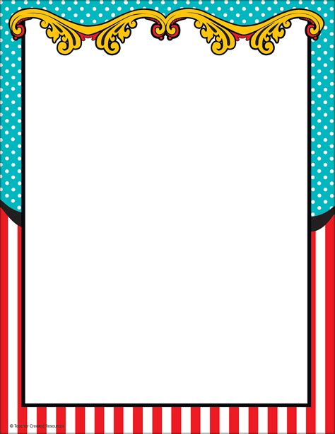 Carnival Borders Clipart by Carnival Computer Paper Tcr5712 Created Resources
