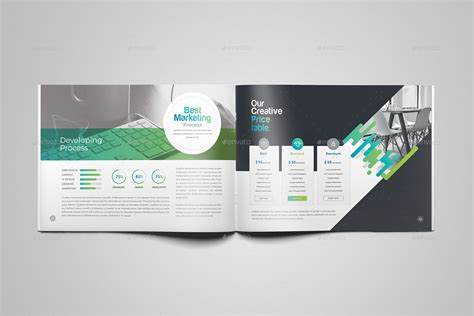 company profile design envato company profile landscape brochure by generousart