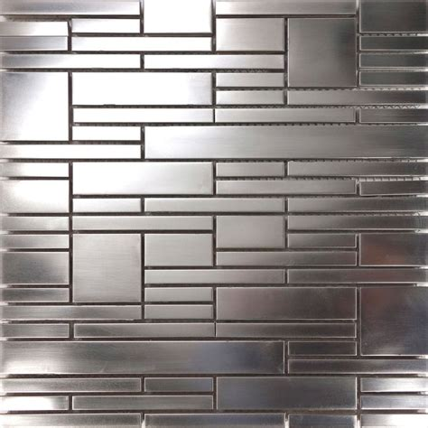 1sf stainless steel brushed nickel pattern mosaic tile 12 best stainless steel mosaics images on pinterest room