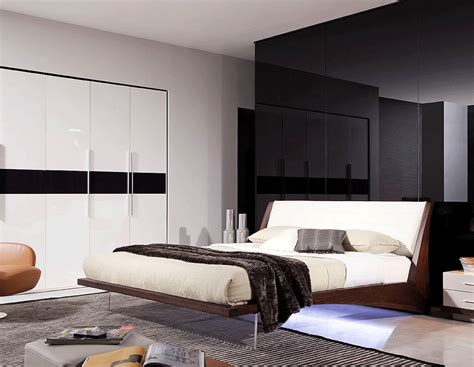 modern led bedroom set rivera contemporary bedroom