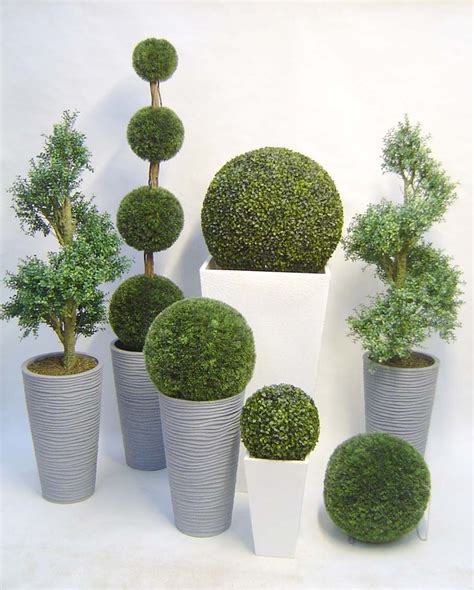 the family of topiary trees with these stunning