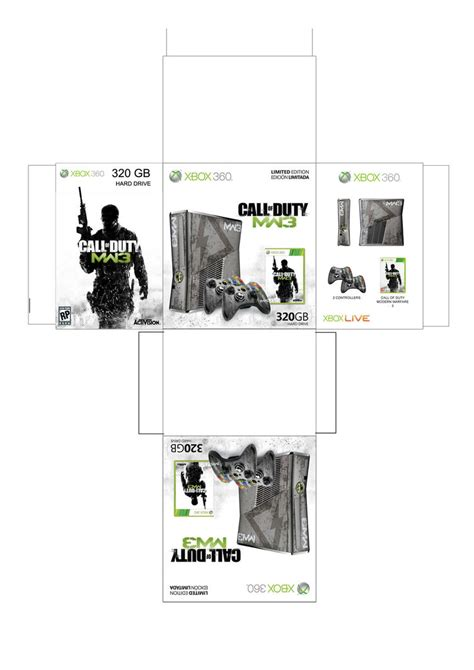 xbox papercraft template images