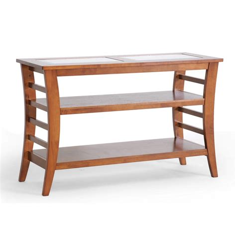 baxton studio allison honey brown wood modern console