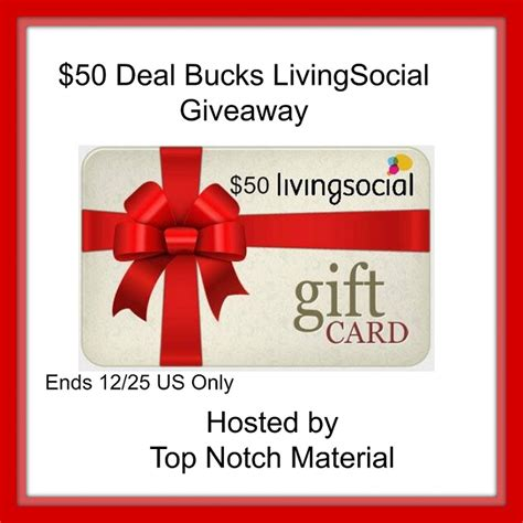 Living Social Gift Cards - enter to win this 50 livingsocial gift card giveaway