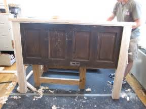 Building A Headboard Ain T She Crafty How To Build A Headboard From An Door