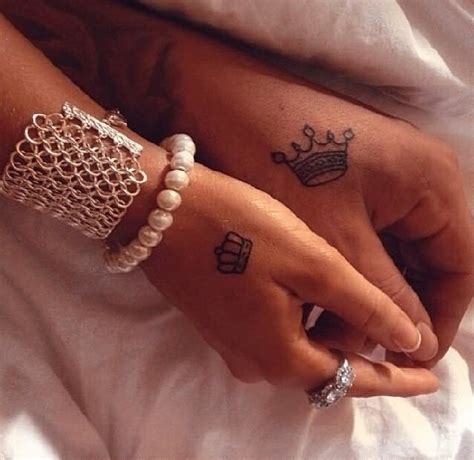 Queen Crown Tattoo On Hand | 13 king tattoos on hands