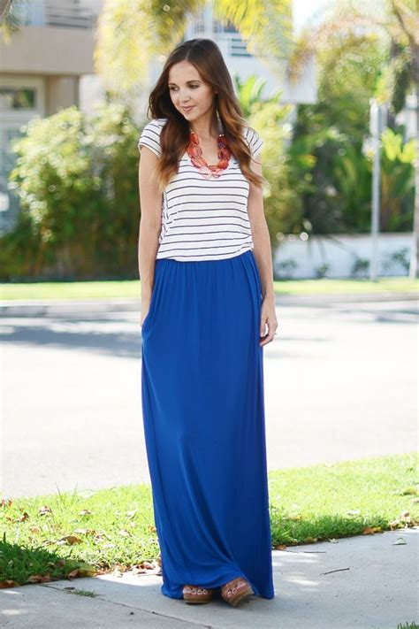 best 25 blue maxi skirts ideas on coral maxi