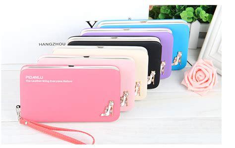 2016 Pu Wallet Blue Intl korean multi function wallets mobile phone bag