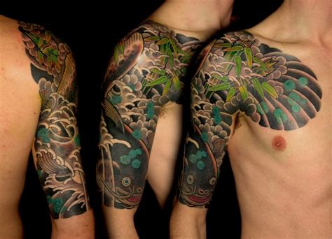 traditional quarter sleeve tattoo traditional japanese half sleeve tattoo by shad tattoos