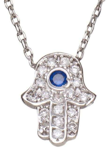 sterling silver hamsa necklace jewelry pendant necklace