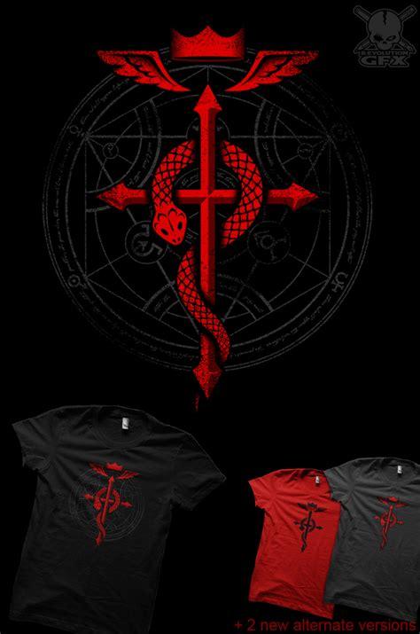 Kaos Fullmetal Alchemist Logo 1 fullmetal alchemist flamel t shirt by r evolution gfx on