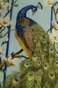 Country Decor Websites Peacock Paradise Deborah Edwards Full Panel Asia Bird