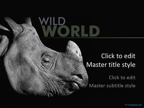 free animal ppt templates wildlife powerpoint slide designs
