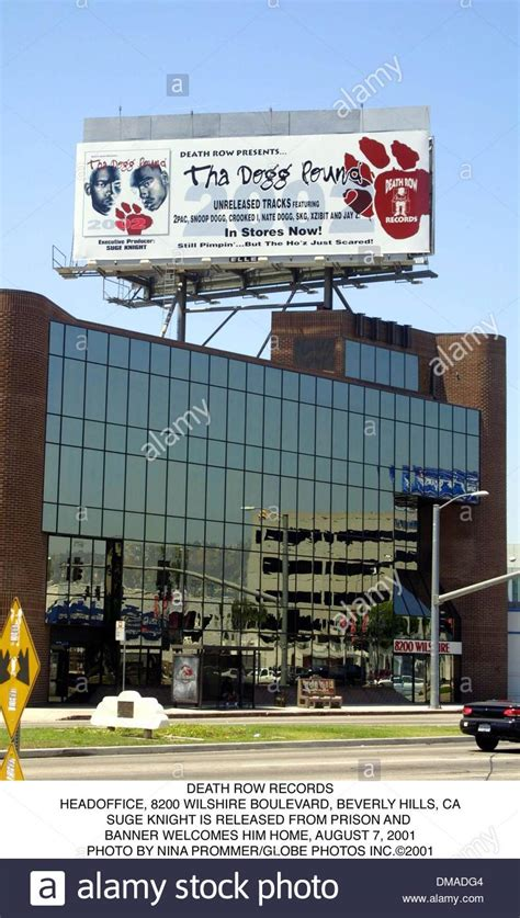 Row Records Picture Aug 7 2001 Beverly Ca Usa Row Records Headoffice Stock Photo