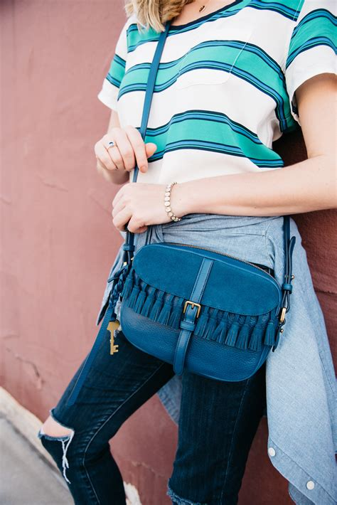 Fossil Kendall Teal Green Canvass Satchel fossil kendall crossbody bag the edit dallas fort worth fashion by
