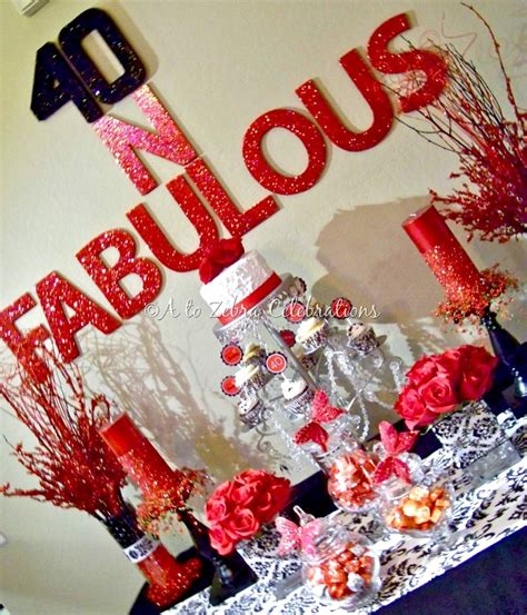 Fabulous At 40 Decorations by 40 Fabulous A To Zebra Celebrations