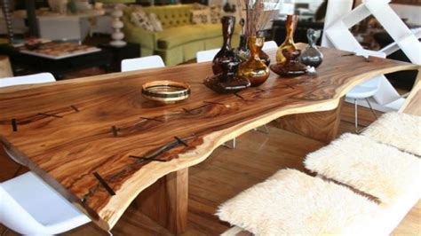 Modern wood dining table, rustic wood dining room tables