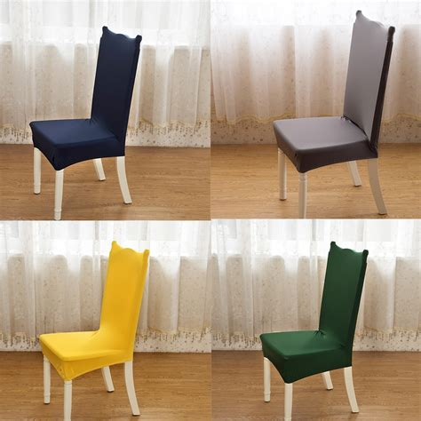 24 solid color polyester spandex dining chair covers for
