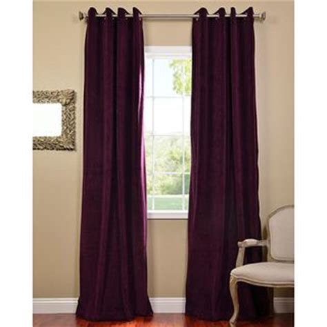 eggplant colored curtain panels exclusive fabrics eggplant grommet velvet blackout curtain
