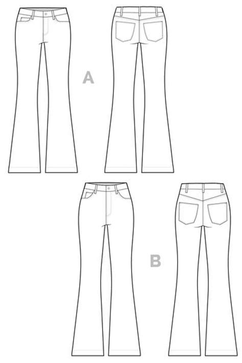 pattern of jeans ginger flared jeans sewing pattern bootcut flares