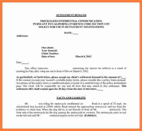 Divorce Settlement Demand Letter settlement demand letter marital settlements information