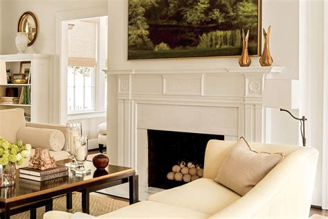 25 cozy ideas for fireplace mantels southern living neutral elegant mantel 25 cozy ideas for fireplace