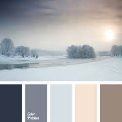 winter color schemes blue gray color palette ideas