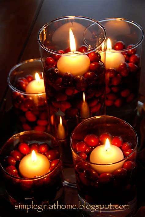 simple floating candle advent centerpiece