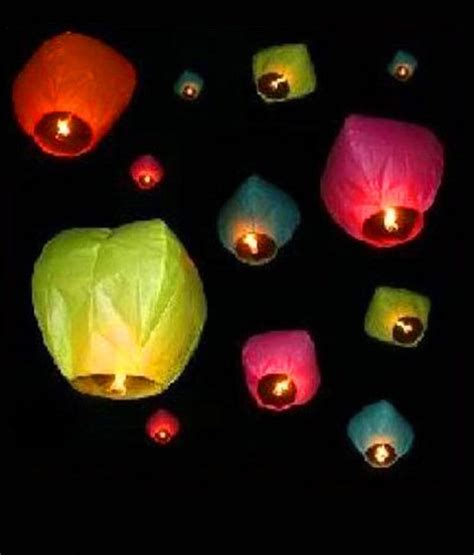 How To Make A Sky Lantern Out Of Paper - searchingeye mesmerising sky lanterns pack 10 pcs buy