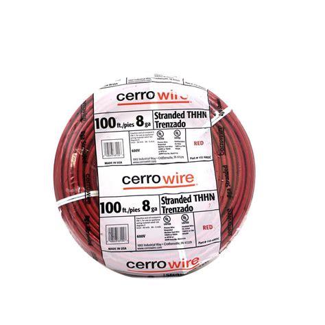 cerrowire 100 ft 8 stranded thhn wire 112 4003c